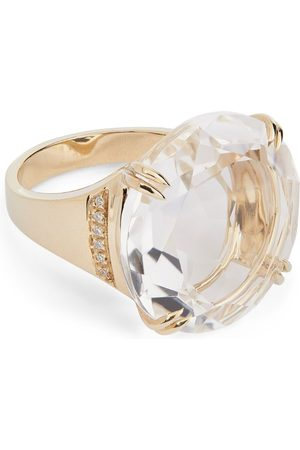 Hstern Noble Gold, Diamond and Rock Crystal Cobblestones Ring