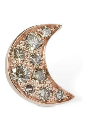 Dodo 9kt Luna Stud Mono Earring W/ Diamond