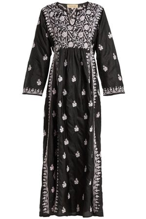 Muzungu Sisters Floral-embroidered Silk Dress - Womens