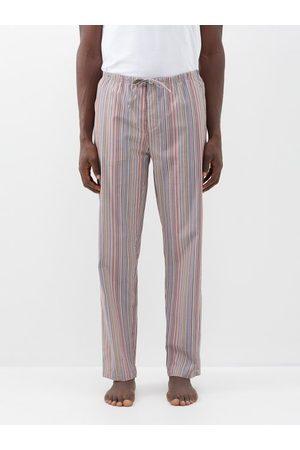 Paul Smith Men Trousers - Signature Stripe Cotton Pyjama Trousers - Mens - Multi