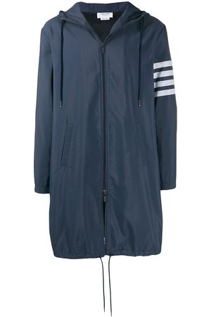 Thom Browne 4-Bar long hooded parka