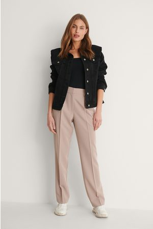 NA-KD Women Trousers - Mid Rise Suit Pants - Pink