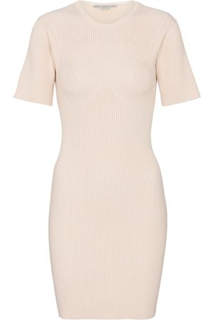 Stella McCartney Ribbed-knit cotton-blend minidress