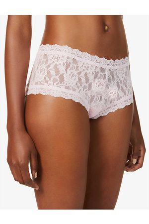 Hanky Panky Womens Bliss Signature Mid-rise Stretch-lace Briefs XS