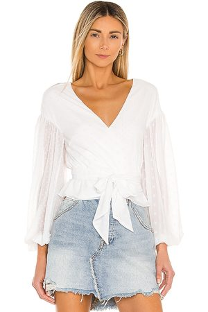 Tularosa Celina Wrap Top in . Size M, S, XL, XS, XXS.