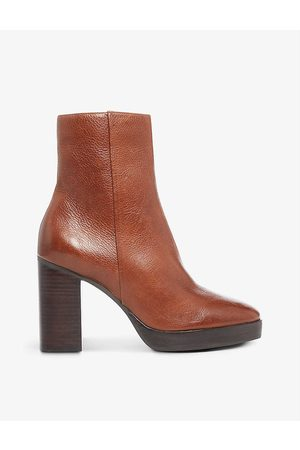 Dune Womens Tan-leather Pella Leather Ankle Boots EUR 38/5 UK Women
