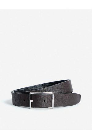 Anderson's Mens Dark Grained Leather Reversible Belt