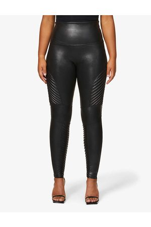 Spanx Womens Very Moto Faux-leather Leggings XL
