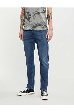 7 for all Mankind Mens Cotton Faded Wash and Whiskering Slimmy Luxe Performance Plus Slim-Fit Jeans