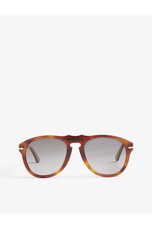 Persol Mens PO0649 Terra di Siena Aviator Havana Sunglasses