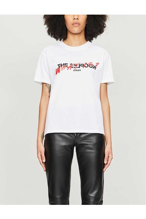 The Kooples Womens Whi01 Logo-print Cotton-jersey T-shirt XS