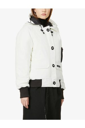 Canada Goose Womens N Star Wh Chilliwack Hooded Cotton-blend Bomber Jacket XS