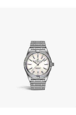 Breitling Womens A77310591A1A1 Chronomat 32 Stainless Steel and Diamond Watch