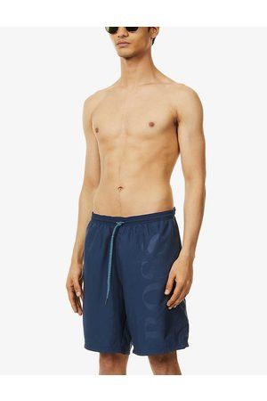 HUGO BOSS Mens Navy Business Swim Shorts M