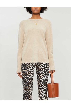 Chinti And Parker Womens Oatmeal Round-neck Cashmere Jumper M