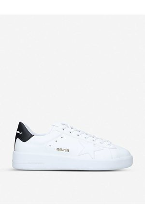 Golden Goose Mens /blk Pure Low-top Leather and Suede Trainers 40