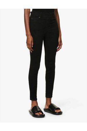 Spanx Womens Pitch Clean Denim Skinny High-rise Stretch-denim Jeans XS