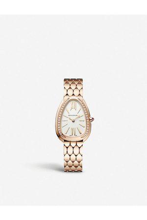 Bvlgari Womens Rose Serpenti Seduttori 18ct - and Diamond Watch