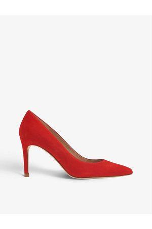 LK Bennett Womens -scarlet Floret Stiletto Suede Courts EUR 35 / 2 UK Women