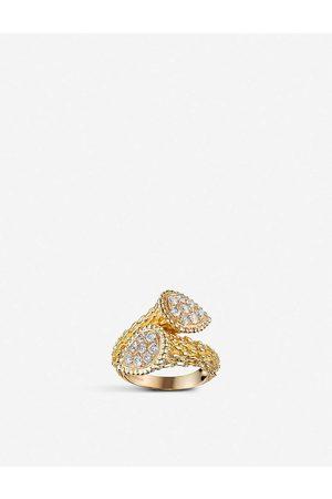 Boucheron Women's Serpent Bohème Toi Et Moi 18ct -Gold And Diamond Ring