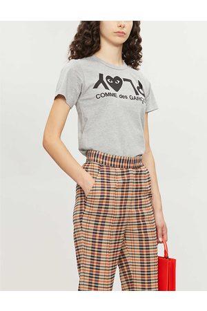 Comme des Garçons Womens Reverse Logo-print Cotton-jersey T-shirt XS
