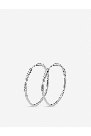 Monica Vinader Womens Sterling Siren Large Sterling Hoop Earrings 1SIZE