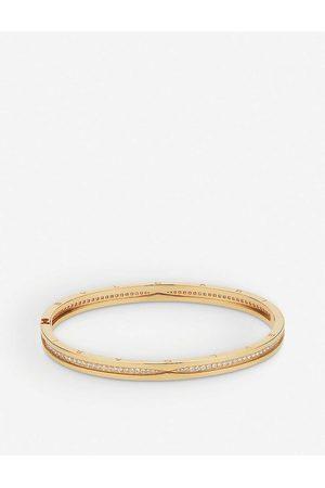 Bvlgari Womens B.zero1 18ct - and Diamond Pavé Bracelet M/L
