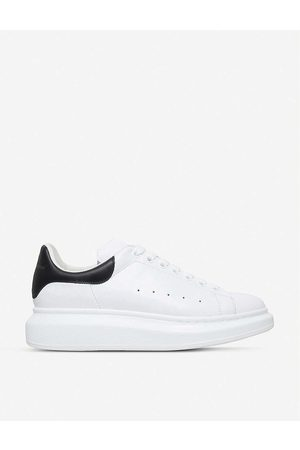 Alexander McQueen Mens Show Leather Platform Trainers