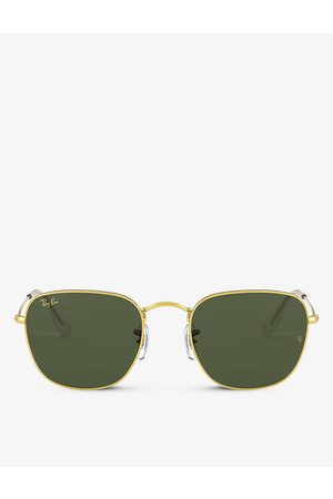 Ray-Ban Mens RB3857 Frank Legend Metal and Acetate Square Sunglasses