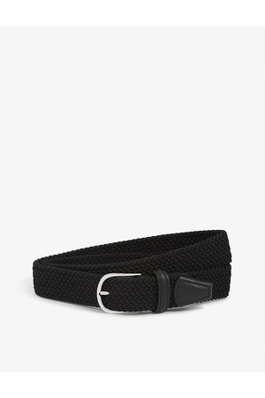 Anderson's Woven Casual Elastic And Leather Belt