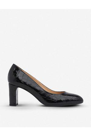 LK Bennett Womens Bla- Winola Mock-croc Leather Courts EUR 36 / 3 UK Women