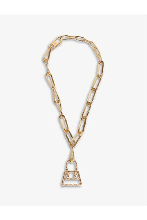 Jacquemus Womens RAW Chiquito -toned Brass Chain Necklace