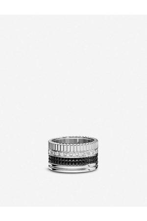 Boucheron Mens Quatre 18ct White-gold With 0.49ct Pavé-set Round Diamond and PVD Ring 48mm