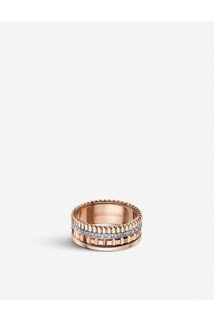 Boucheron Womens Quatre Radiant Edition Rose-gold and 0.24ct Diamond Ring 49mm