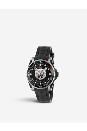 Gucci Men Watches - YA136320 Dive stainless-steel and rubber watch