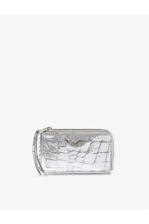 Zadig & Voltaire Womens ZV Embossed Leather Stud Cardholder 1 Size