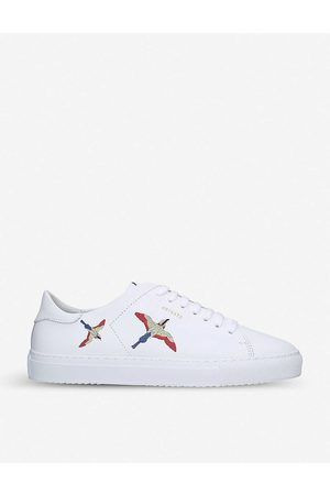 Axel Arigato Mens Clean 90 Bird-embroidered Leather Low-top Trainers EUR 41 / 7 UK MEN