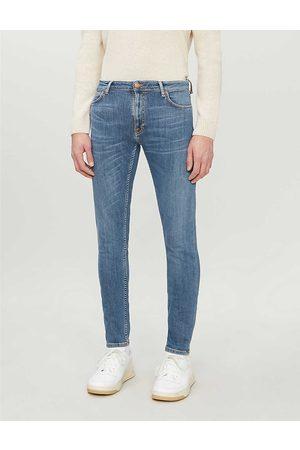 Nudie Jeans Mens Dark Navy Skinny Lin Tapered Jeans 28/32
