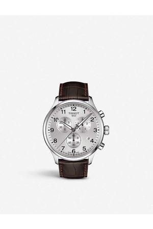 Tissot T1166171603700 Chrono XL Classic stainless steel and leather strap watch
