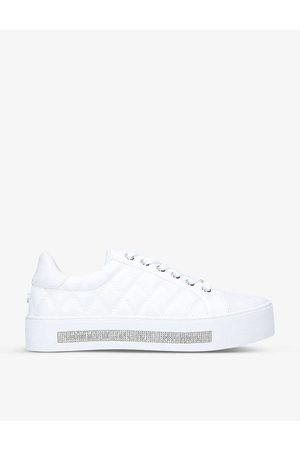 Carvela Womens Jeo Diamante-detail Quilted Trainers EUR 38/5 UK Women