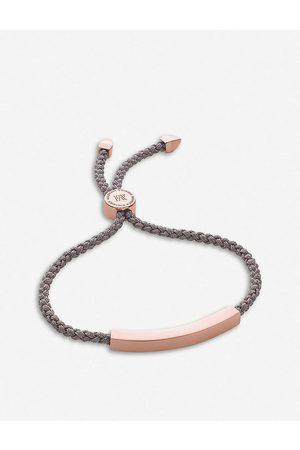 Monica Vinader Mens Linear 18ct Rose Gold-plated Woven Friendship Bracelet 1 Size