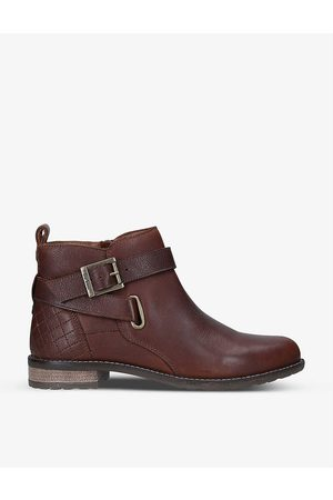 Barbour Jane buckle-embellished leather ankle boots