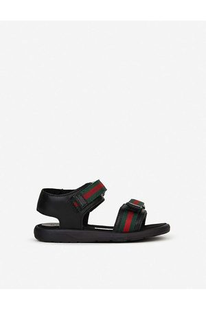 Gucci Gauffrette leather sandals 6 months-4 years