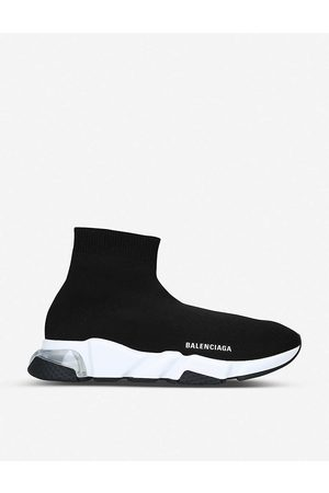 Balenciaga Mens Blk/ Speed Stretch-knit Trainers EUR 40 / 6 UK MEN