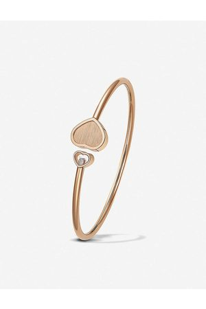 Chopard Womens 18K Rose Golden Hearts 18ct Rose- and 0.19ct White-diamond Bangle M
