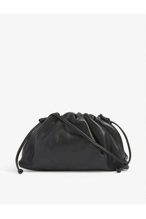 Bottega Veneta Womens Nero ( and ) The Pouch Mini Leather Clutch
