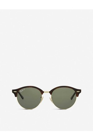 Ray-Ban Mens Havana Rb4246 Clubround Sunglasses