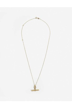 Tilly Sveaas LTD Womens T-bar 23ct -plated Sterling Silver Necklace
