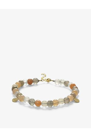 The Alkemistry Womens Cinta 18ct Yellow Gold and Moonstone mix Beaded Bracelet 1SIZE