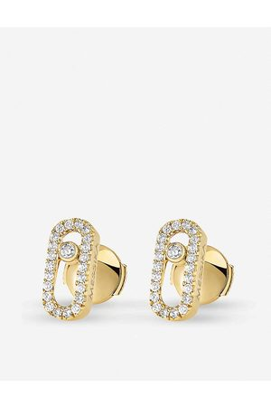MESSIKA Womens Move Uno 18ct -gold and Diamond-set Stud Earrings